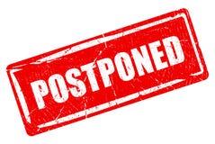 Postponed rectangular rubber stamp Stock Photography