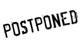 Postponed rubber stamp Stock Photos