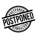 Postponed rubber stamp Stock Image