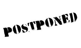 Postponed rubber stamp Royalty Free Stock Images