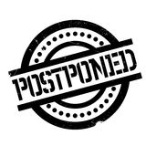Postponed rubber stamp Stock Photography