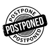 Postponed rubber stamp Stock Images