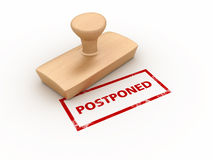 Postponed Rubber Stamp Royalty Free Stock Image
