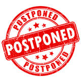 Postponed rubber vector stamp Royalty Free Stock Photos
