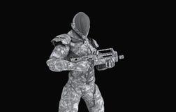 Postępowy super żołnierz Zdjęcia Stock