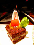 Postprandial delicious cake Royalty Free Stock Image