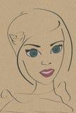 Postrait van een jonge vrouw Royalty-vrije Stock Foto's