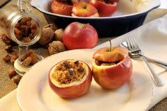 Postre cocido al horno de la manzana Imágenes de archivo libres de regalías