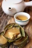 Postre cocido al vapor del chino Imágenes de archivo libres de regalías