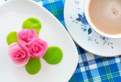 Postre color de rosa tailandés del aalaw Imagen de archivo libre de regalías