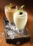 Postre cremoso grueso del milkshake Fotografía de archivo