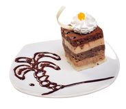 Postre de Cake.sweet. Imagen de archivo