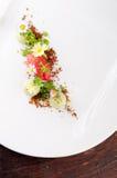 Postre de cena fino, helado de la fresa/del kiwi Foto de archivo libre de regalías