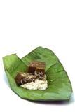 Postre de Grøn en las hojas del plátano. Imagen de archivo libre de regalías