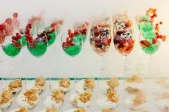 Postre de la boda de la comida del abastecimiento Fotografía de archivo
