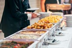 Postre de la boda de la comida del abastecimiento Foto de archivo libre de regalías