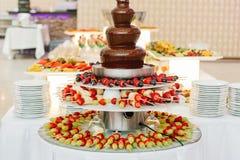 Postre de la boda de la comida del abastecimiento Imagenes de archivo