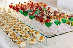 Postre de la boda de la comida del abastecimiento Fotos de archivo