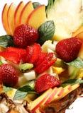 Postre de la mezcla de la fruta Fotos de archivo libres de regalías