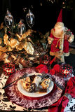 Postre de la Navidad Fotos de archivo