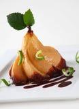 Postre de la pera del Choko Imagenes de archivo
