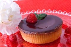 Postre de la tarta de frambuesa Imagenes de archivo
