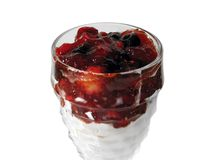 Postre de la taza de la fruta Imagenes de archivo