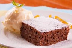 Postre de la torta de chocolate imagen de archivo libre de regalías