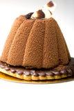 Postre de la torta de la crema batida de chocolate de los pasteles fotos de archivo libres de regalías