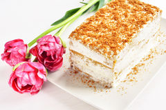 Postre de la torta de zanahoria Foto de archivo libre de regalías