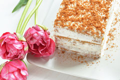 Postre de la torta de zanahoria Fotografía de archivo libre de regalías