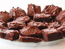Postre de los brownie fotos de archivo libres de regalías