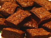 Postre de los brownie Fotografía de archivo