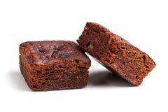 Postre de los brownie del chocolate Foto de archivo libre de regalías