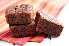 Postre de los brownie del chocolate Fotografía de archivo