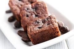 Postre de los brownie del chocolate Imagenes de archivo