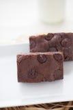 Postre de los brownie del chocolate Fotos de archivo libres de regalías