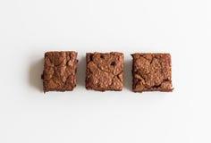 Postre de los brownie del chocolate Imagen de archivo libre de regalías