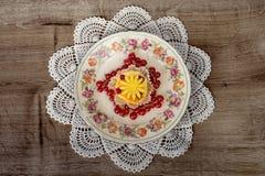 Postre de lujo de la fruta Foto de archivo libre de regalías