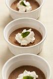Postre de Rich Gourmet Homemade Chocolate Mousse Imagen de archivo