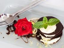 Postre del chocolate imagen de archivo libre de regalías