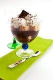 Postre del chocolate con la esponja Fotografía de archivo libre de regalías