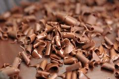 Postre del chocolate con las escofinas del chocolate Imagen de archivo libre de regalías