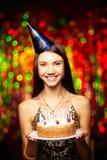 Postre del cumpleaños Fotografía de archivo libre de regalías