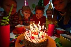 Postre del cumpleaños Imagenes de archivo