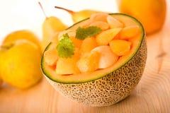 Postre del melón del cantalupo imagen de archivo libre de regalías