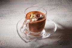 Postre del mousse de chocolate Foto de archivo