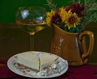 Postre del pastel de queso de la acción de gracias Fotografía de archivo libre de regalías
