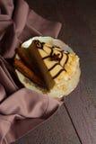 Postre del pastel de queso y del café fotografía de archivo libre de regalías