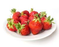 Postre del verano - fresas Imagen de archivo libre de regalías